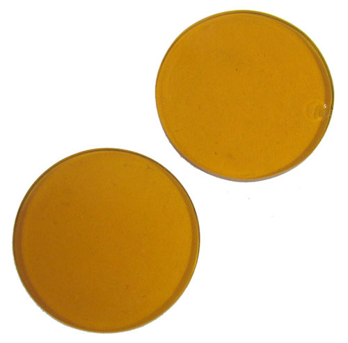 30mm DIA. GLASS AMBER FILTER