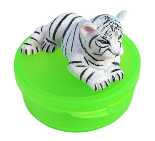 WHITE TIGER SNAP-TOP PILL BOX