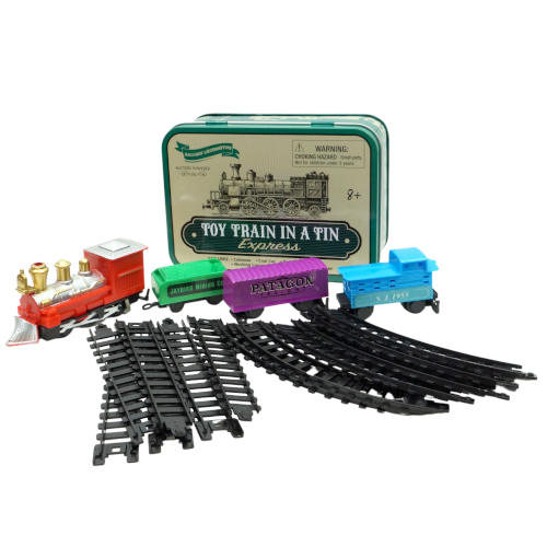 BATTERY OPERATED TRAIN IN A CAN