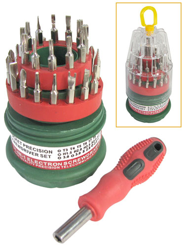 HANDY MINIATURE SCREWDRIVER  BIT SET