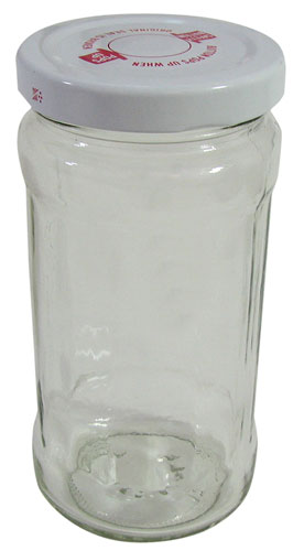 CLEAR GLASS JARS WITH CAPS