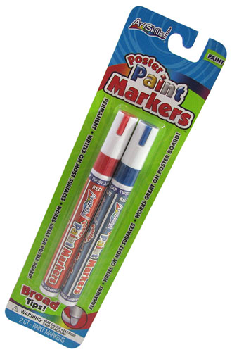 ASSORTED POSTER PAINT MARKERS