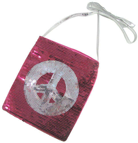 BEDAZZLED PEACE PURSE