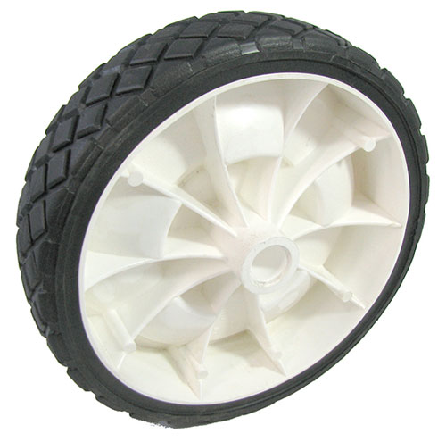 WHITE PLASTIC LAWNMOWER WHEEL 6""