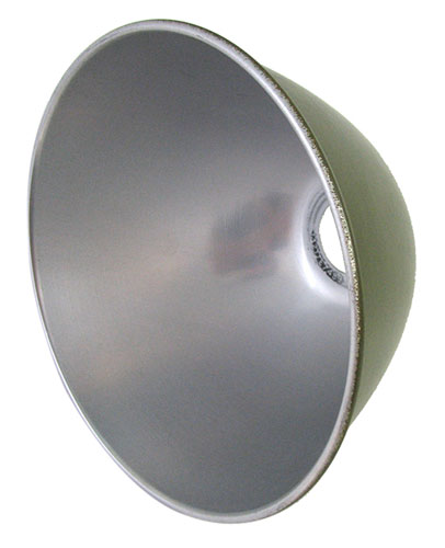 US ARMY OLIVE DRAB ALUMINUM LAMPSHADE