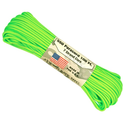 550 LB TEST NEON GREEN PARACORD