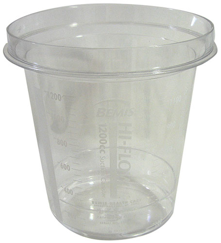 PLASTIC GRADUATED CANISTER