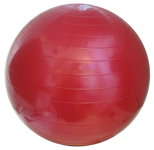 ASSORTED COLORS EXERCISE BALL WITH PUMP