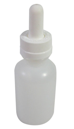 WHITE PLASTIC DROPPER BOTTLES