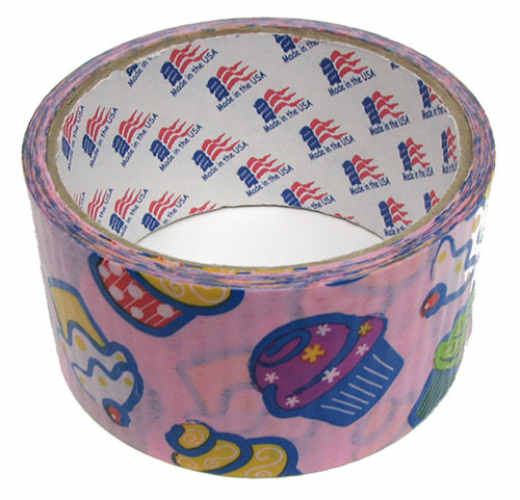 "1-7/8"" WIDE PINK CUPCAKE DUCT TAPE"