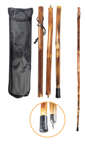 3 PIECE PORTABLE WALKING STICK