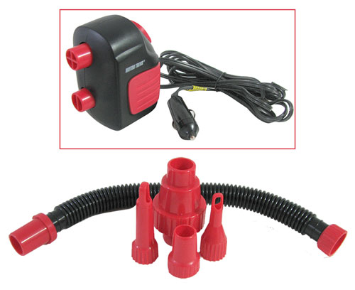 COMPACT AIR COMPRESSOR WITH ADAPTERS