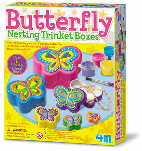 PAINTABLE NESTING BUTTERFLY CONTAINERS
