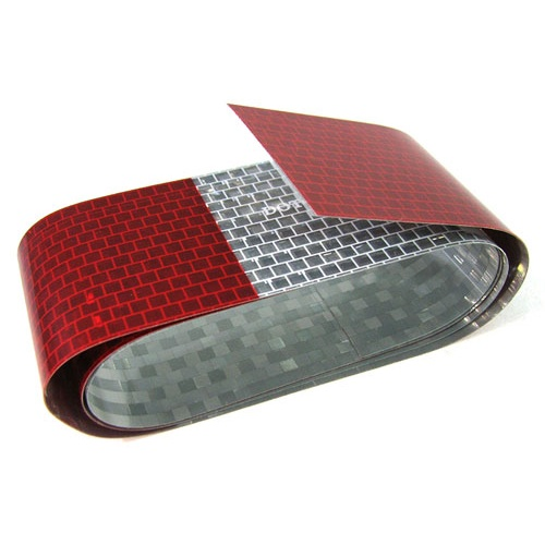 "RED REFLECTIVE TAPE 2"" x 3'"