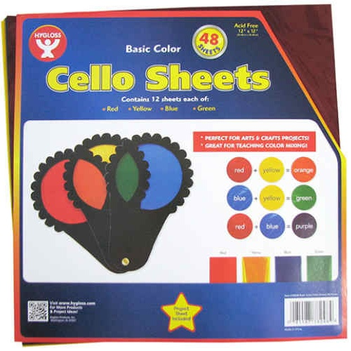 "12"" SQUARE CELLOPHANE SHEETS"