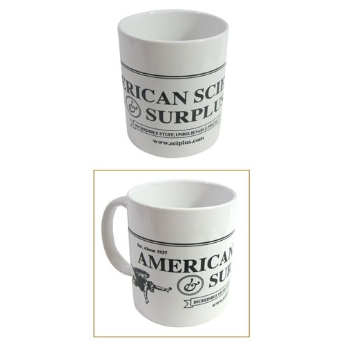 AMERICAN SCIENCE & SURPLUS COFFEE MUG