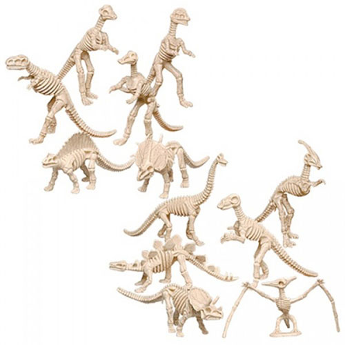 "ASSORTED 6"" DINOSAUR SKELETONS"