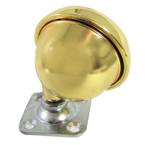 "CASTER, 2-1/2"" SWIVEL PLATE BRASS BALL"