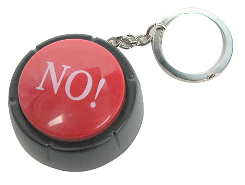 "KEYCHAIN ""NO"" BUTTON"