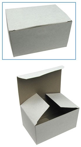 WHITE CARDBOARD TRINKET BOXES