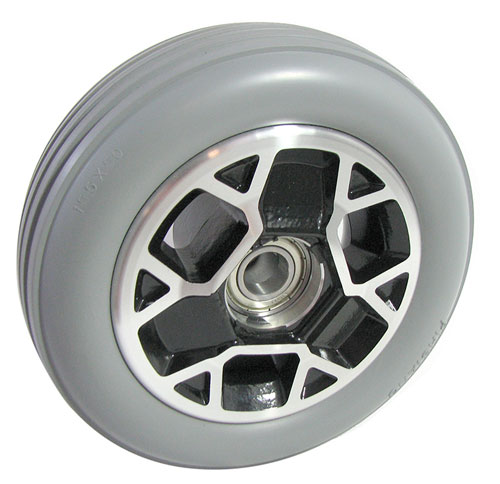 "6"" DIAMETER SOLID RUBBER WHEELS"