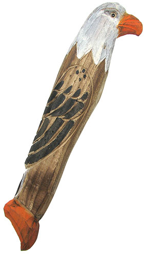 WOODEN EAGLE RAIN STICK