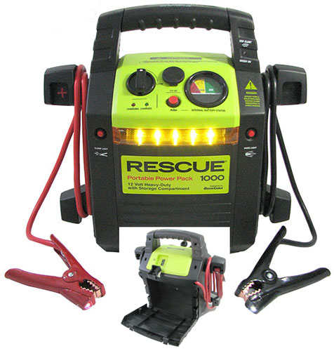 EMERGENCY JUMP START POWER PACK WITH CABLES