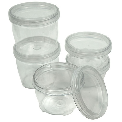 STACKING JARS WITH SCREW CAPS