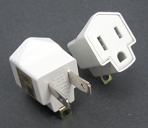 3-PRONG GROUNDED ADAPTERS
