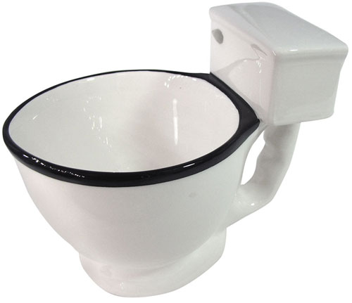 TASTEFUL TOILET-SHAPED COFFEE BOWL