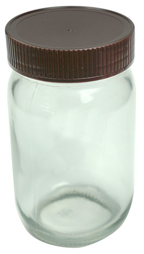 13 OUNCE CLEAR GLASS JAR WITH LID