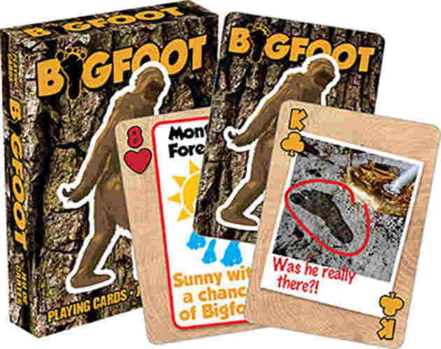 BIGFOOT-THEMED PLAYING CARDS