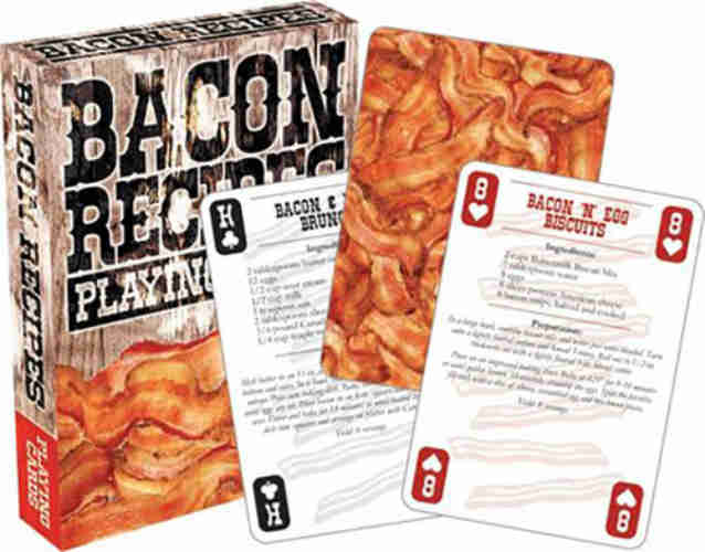 BACON-THEMED PLAYING CARDS