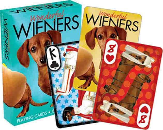 DACHSHUND-THEMED PLAYING CARDS