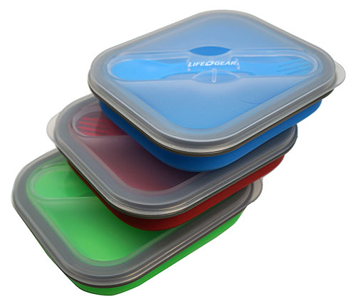 COLLAPSIBLE SILICONE LUNCH TOTE