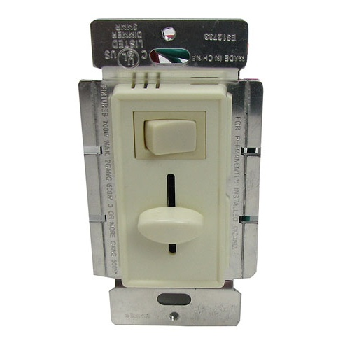 DIMMER, 120V 700W SLIDE LIGHT, W/ROCKER SWITCH