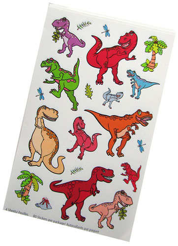 CARTOON DINOSAUR STICKERS