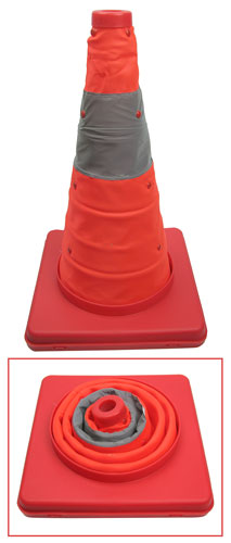 COLLAPSIBLE LED SAFETY CONES