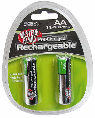 RECHARGEABLE AA NIMH BATTERIES