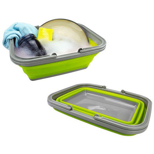 SILICONE COLLAPSIBLE DISHPAN/BASKET