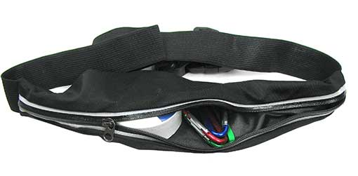 SPORTS BELT WITH ZIPPERED POUCH