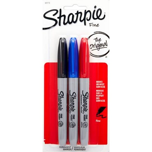 CLASSIC SHARPIE 3-PACK RED BLUE BLACK