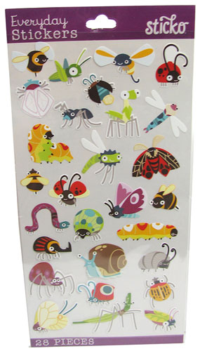 ASSORTED CARTOON BUG STICKERS
