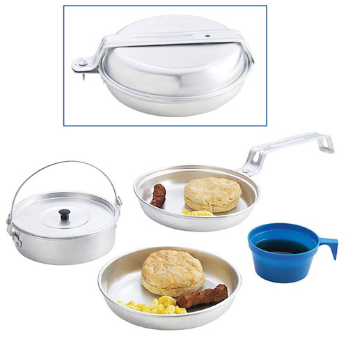 ALUMINUM ALL-IN-ONE MESS KIT