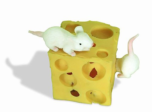 STRETCHY CHEESE CUBE WITH MICE