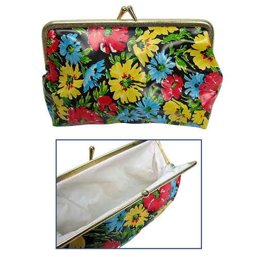 FLORAL SNAP-CLOSURE POUCH