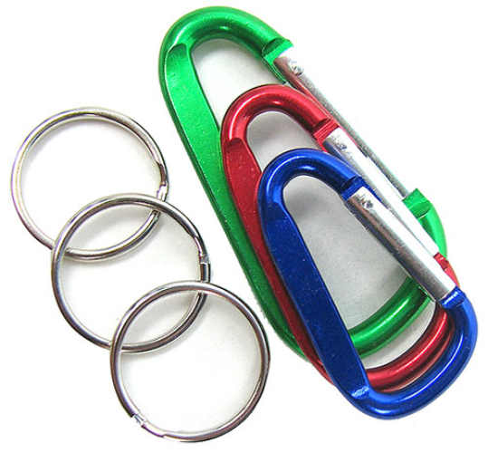 ASSORTED MINI ALUMINUM CARABINERS