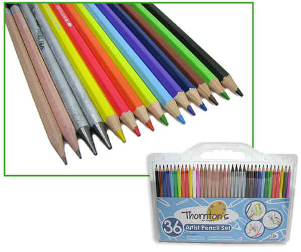 ARTISTS' PENCILS 36 PIECE