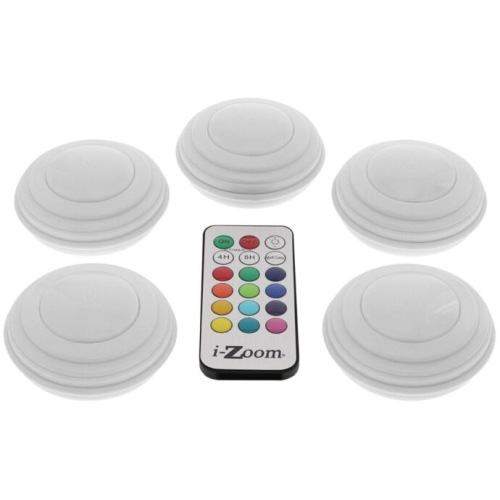 5-PACK WIRELESS REMOTE MORPHING LED LIGHTS