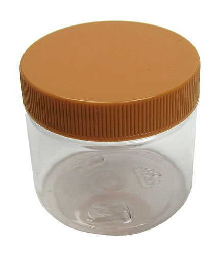 2 OZ PLASTIC JARS WITH SCREW LIDS